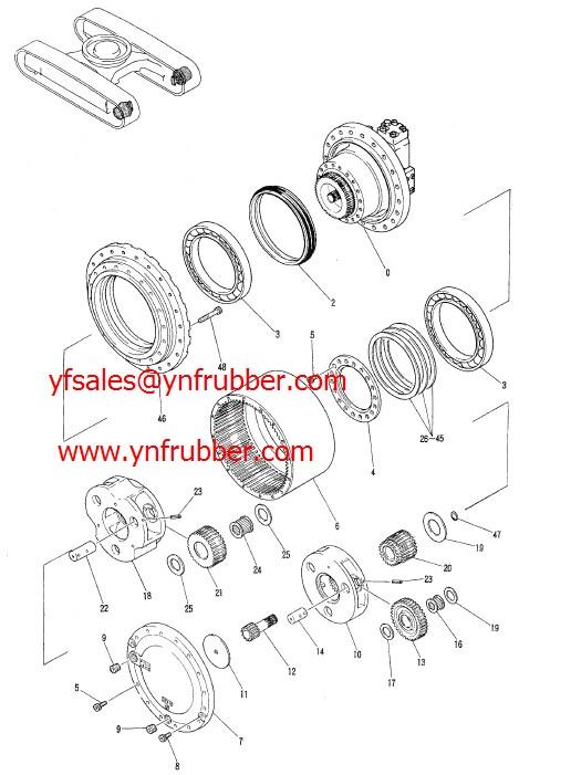 Kobelco Sk250lc-6e Final Drive Motorassy/kyb/propeling