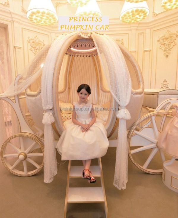 European Castle Bed Design Cinderella Pumpkin Coach
