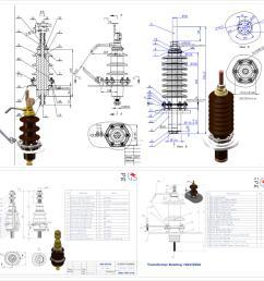1kv 36kv full set din porcelain electrical bushing electrical transformer bushing [ 2984 x 3000 Pixel ]