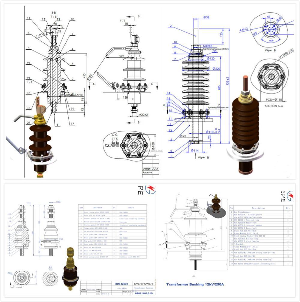 medium resolution of 1kv 36kv full set din porcelain electrical bushing electrical transformer bushing