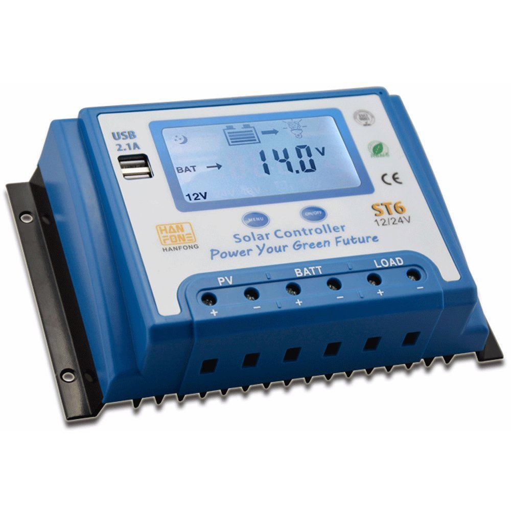hight resolution of zhcsolar 60a solar charge controller 12v 24v with dual 5v usb output backlight lcd display solar