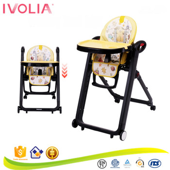 portable folding high chair childs plastic table and chairs ivolia foldable highchair baby with double tray