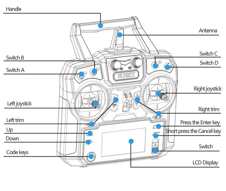 Flysky Fs-i6 2.4ghz 6ch Afhds 2a Radio System Transmitter