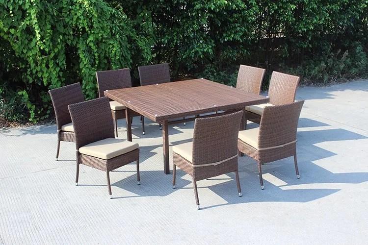 ensemble table carre et 8 places chaises empilables jardin et salle a manger buy ensemble de salle a manger de jardin ensemble de salle a manger de