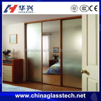 Aluminum Glass Interior Bedroom Wardrobe Sliding Door