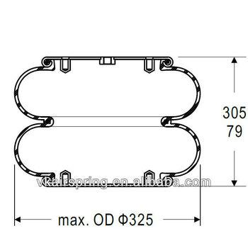 HENDRICKSON FD330-22 363 industrial rubber air spring