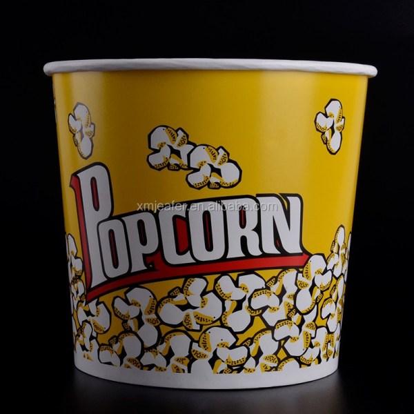 85oz Popcorn Box With Lid Custom Paper Bucket