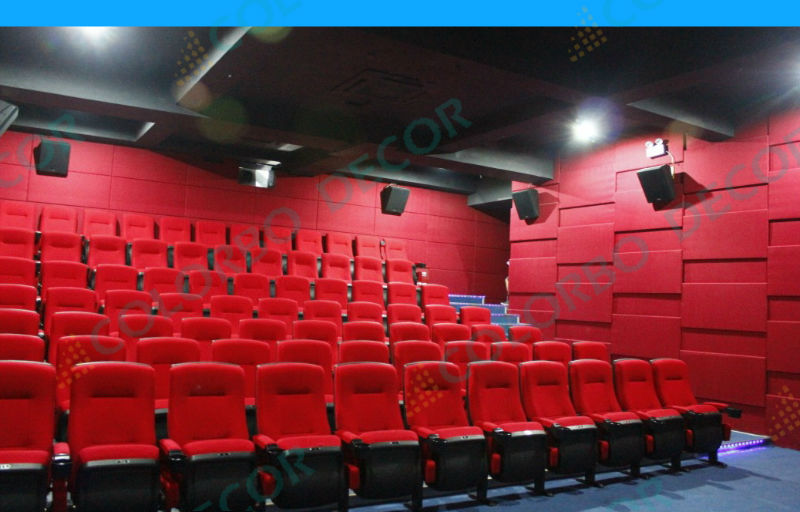 Fabric Wrapped Acoustical Wall Panels Wedge Shaped Panels
