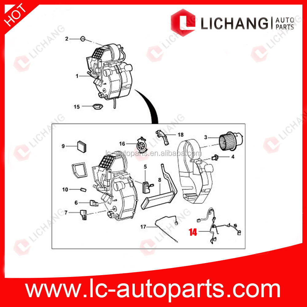 hight resolution of genuine auto parts for 7c19 18b518 ab ford transit front air conditioner wiring harness