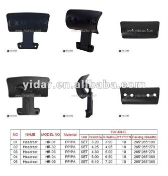 add on headrest for office chair rolling chairs hr 01 view furniture yidartex