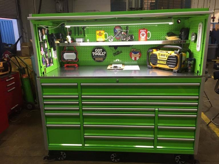 High Quality 72 Powder Coated Tool Boxes With Wheels