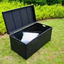Outdoor Wicker Towel Storage Cabinet