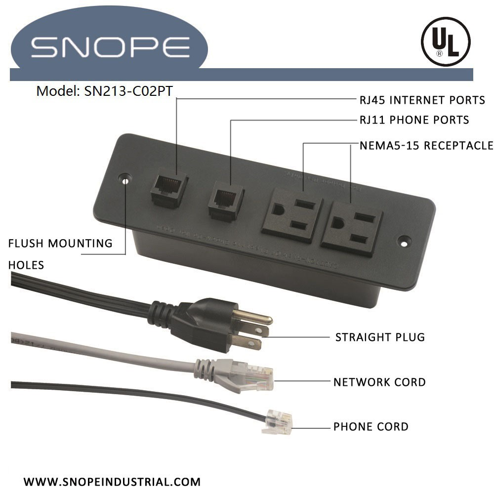 hight resolution of multi conference table power data socket outlet with rj11 phone ports