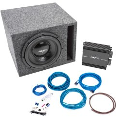 get quotations skar audio 400 watt complete car subwoofer package 10 inch subwoofer in ported box [ 1600 x 1584 Pixel ]