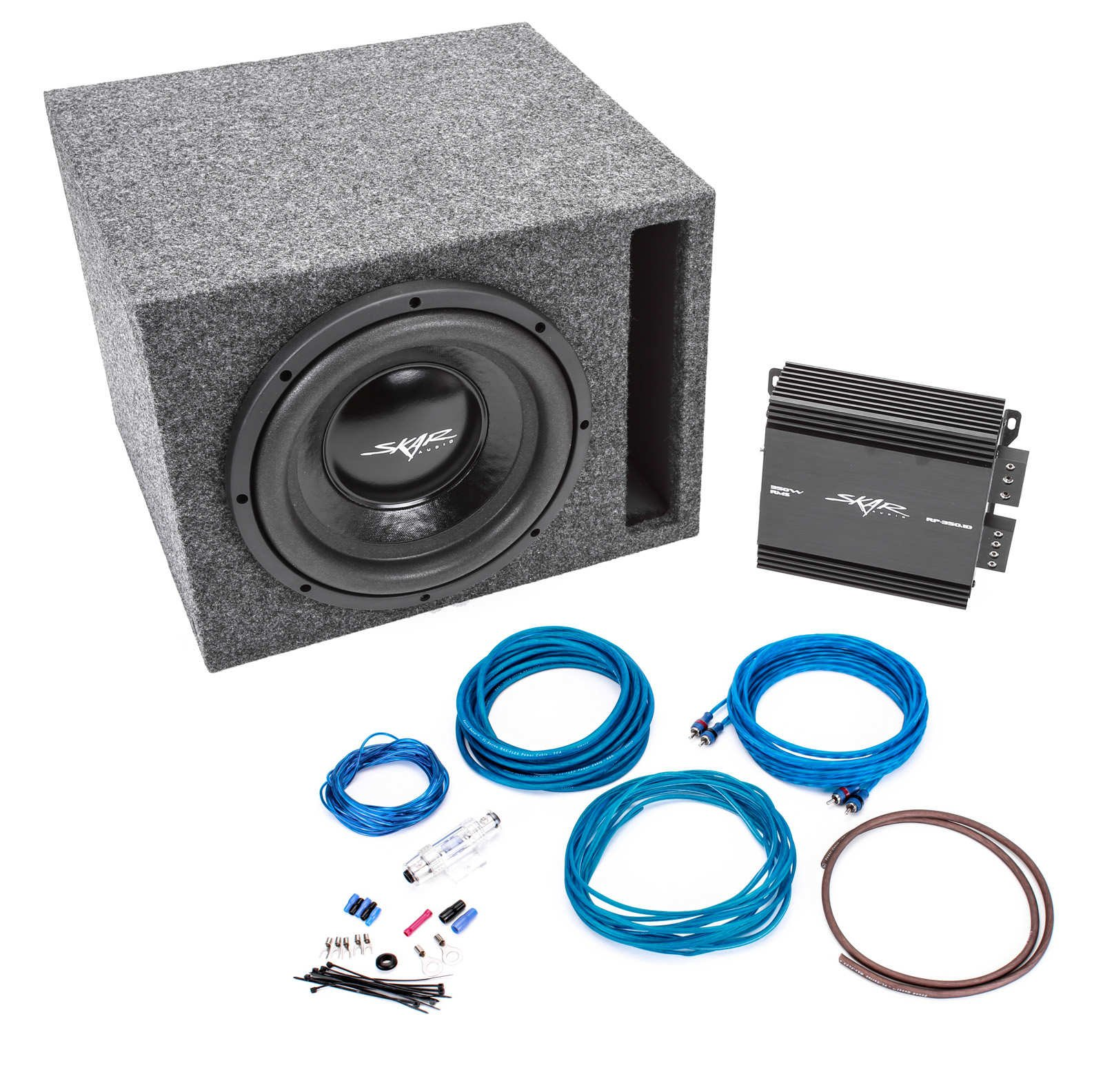 hight resolution of get quotations skar audio 400 watt complete car subwoofer package 10 inch subwoofer in ported box
