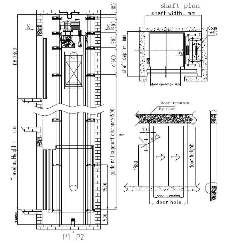 Multifunctional China Residential Elevator Wood Lift