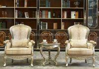 Luxury and Royal Living Room Sofa Chair, Solid Wood Tea ...