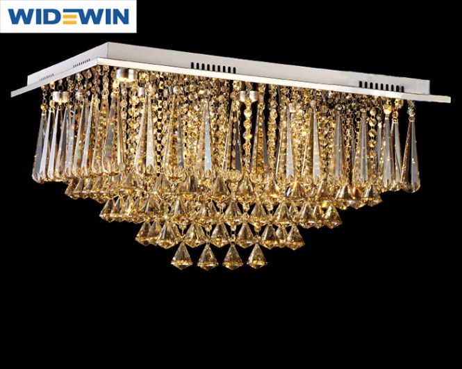 Hot Style Pendant Lamp Square Crystal Chandelier For 6 Size