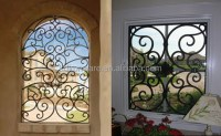 Simple House Window Decor Security Wrought Iron Metal ...