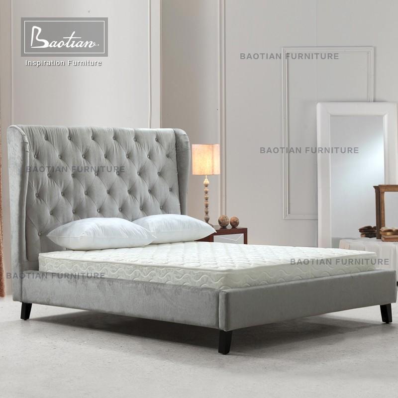 Klassieke stijl dubbele bed en matras slaapkamer meubels