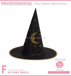 witch hats for child and adult to make star and moon decorated on the hats for party favor [ 1000 x 1000 Pixel ]
