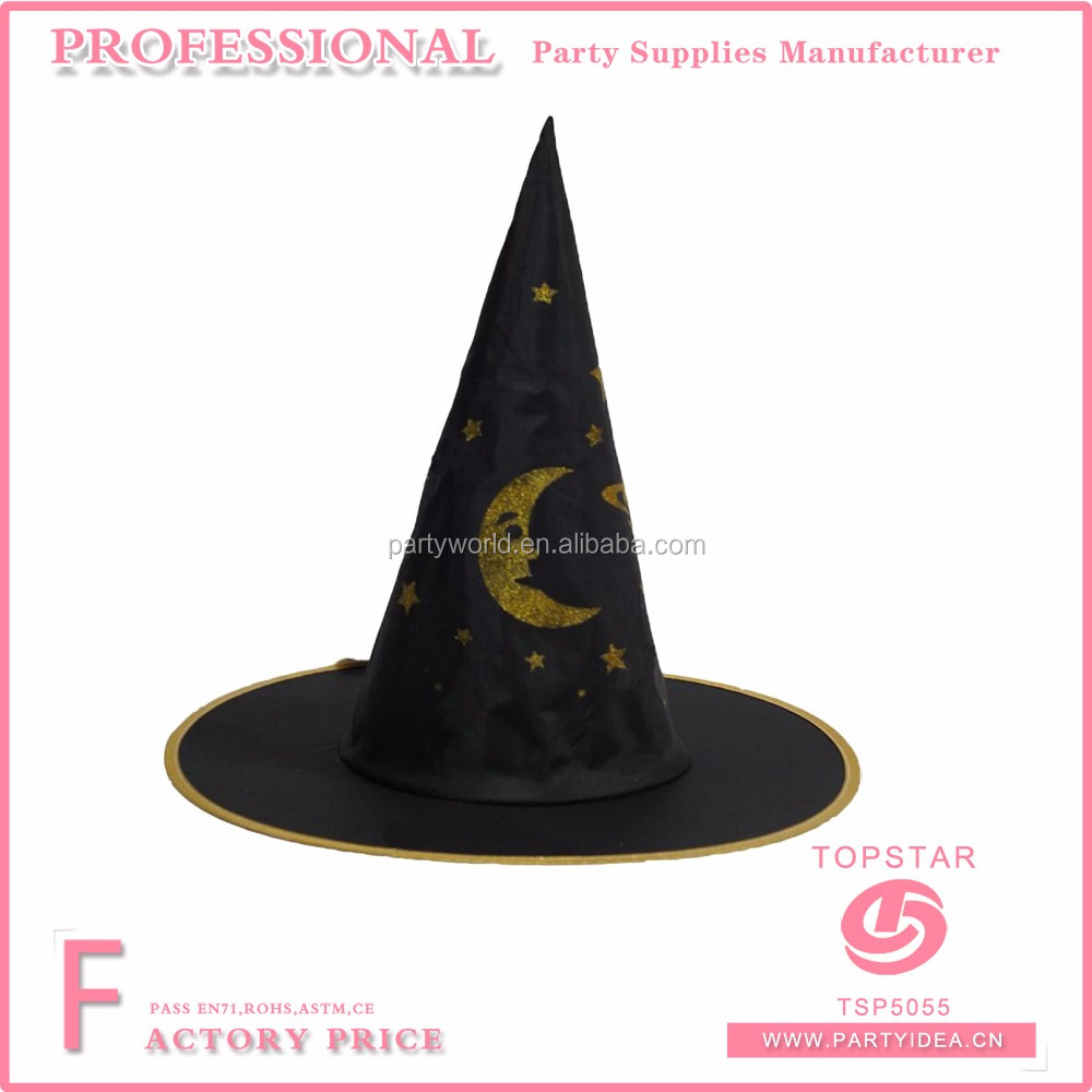 hight resolution of witch hats for child and adult to make star and moon decorated on the hats for party favor