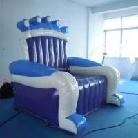 Inflatable Kids Chair,Blue Air Small Sofa,Inflatable Child