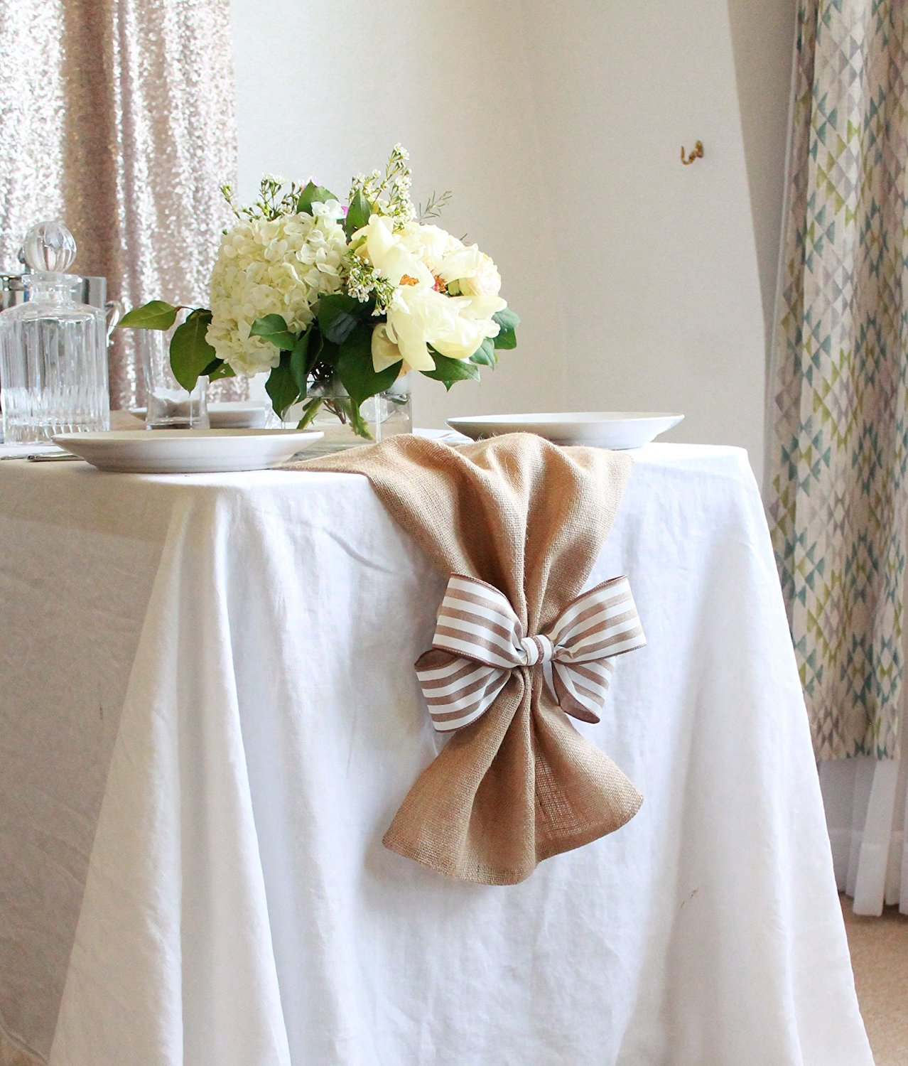 cheap burlap wedding table