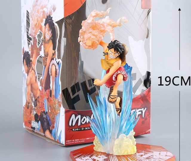 Hot Japanese Cartoon One Piece Ace And Luffy Action Figure