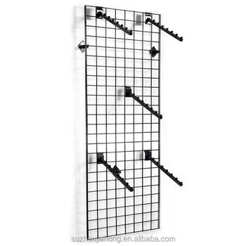 Usa Black Display Wire Mesh Gridwall Panel With Peg Hook