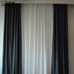 Simple Living Room Curtains Wall Color With Brown Sofa Design Blackout Fabric Modern Curtain Solid Drape Window From China