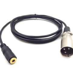 get quotations haokiang 3 5mm to xlr cable 1 8 female trs to xlr 3 pin [ 1500 x 1332 Pixel ]