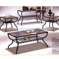 Marble Living Room Table Sets Decor Walls Mx 2214 Coffee Set With Metal Frame And Tile Top