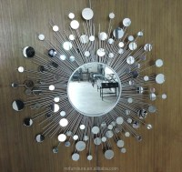 Silver Metal Sunburst Wall Mirror Decor - Buy Sunburst ...