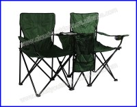Double Seat Camping Chair With Umbrella Outdoor Folding ...