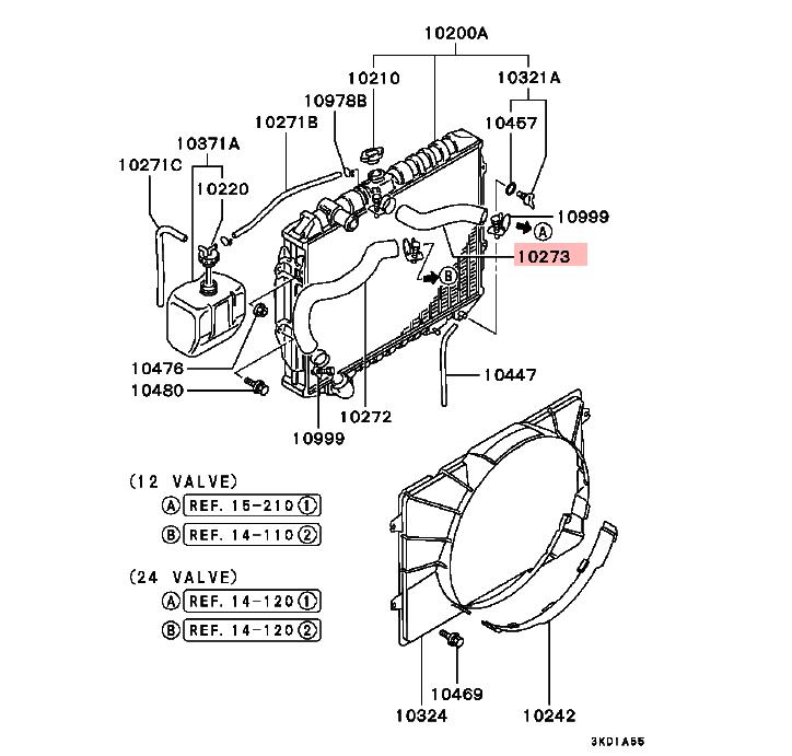 Universal Upper Radiator Hose For Mitsubishi Pajero