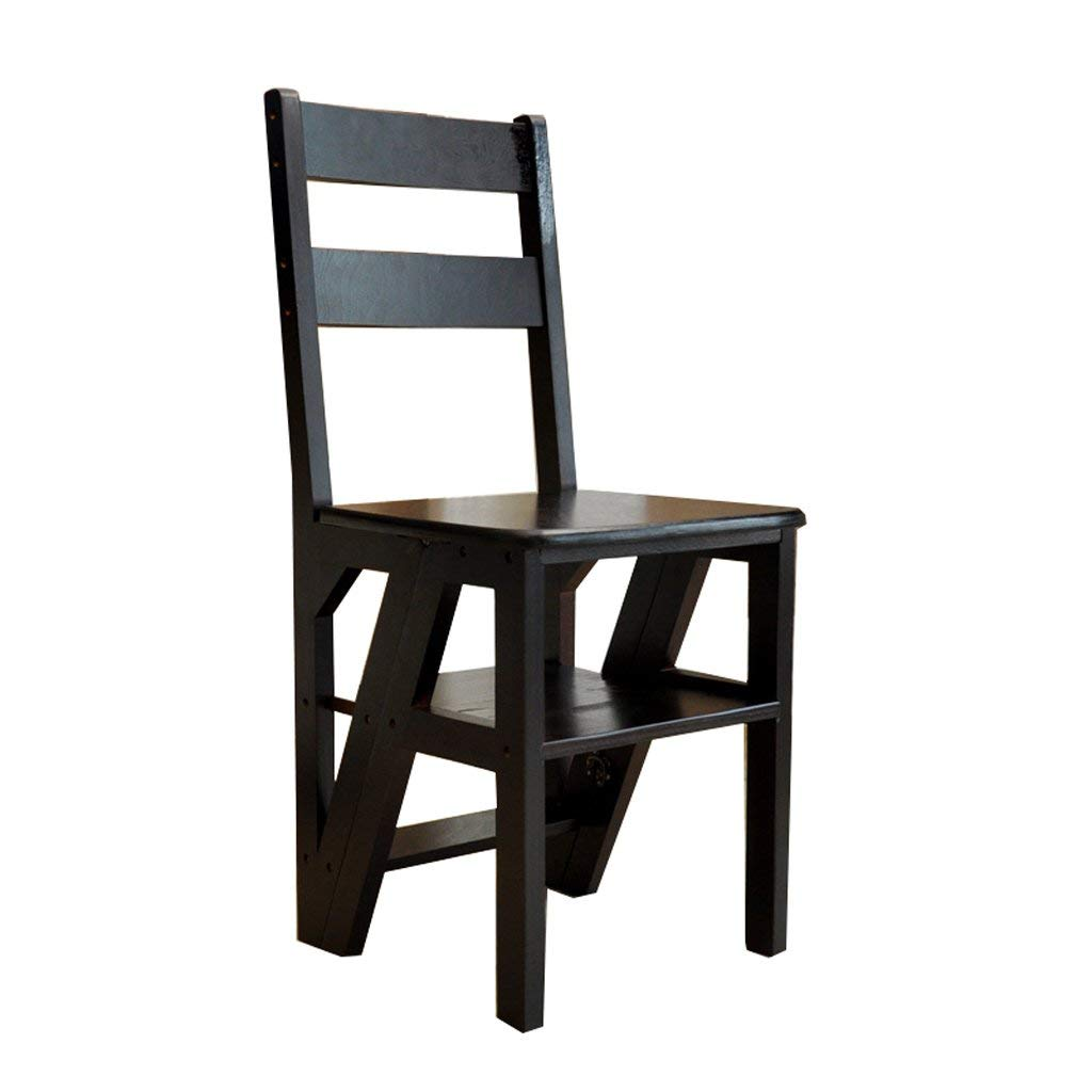 wooden library chair big and tall outdoor folding chairs cheap find deals on line get quotations solid wood ladder multifunctional foldable shelving with 4 steps for home