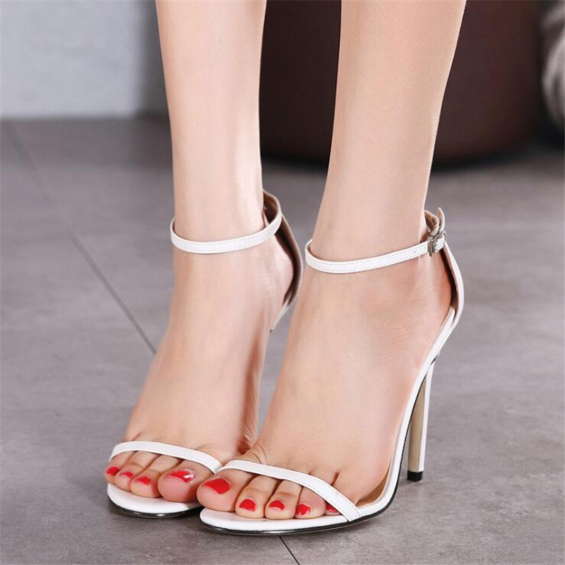 HTB1pSa5g nI8KJjy0Ffq6AdoVXaS 2020 New WOMEN Cover Heel Summer Super high heel Sandals Rough Fish Head open-toed Sandals sexy Large size women shoes .ZL-726-3