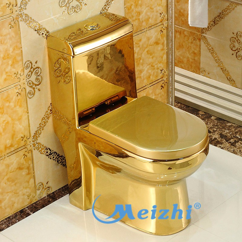 M8012 Sanitary Bathroom One Piece Gold Plated Toilet  Buy Gold Plated ToiletOne Piece Gold