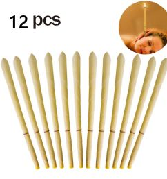 12pcs beeswax candling cones ear wax candle removal kit [ 1200 x 1200 Pixel ]