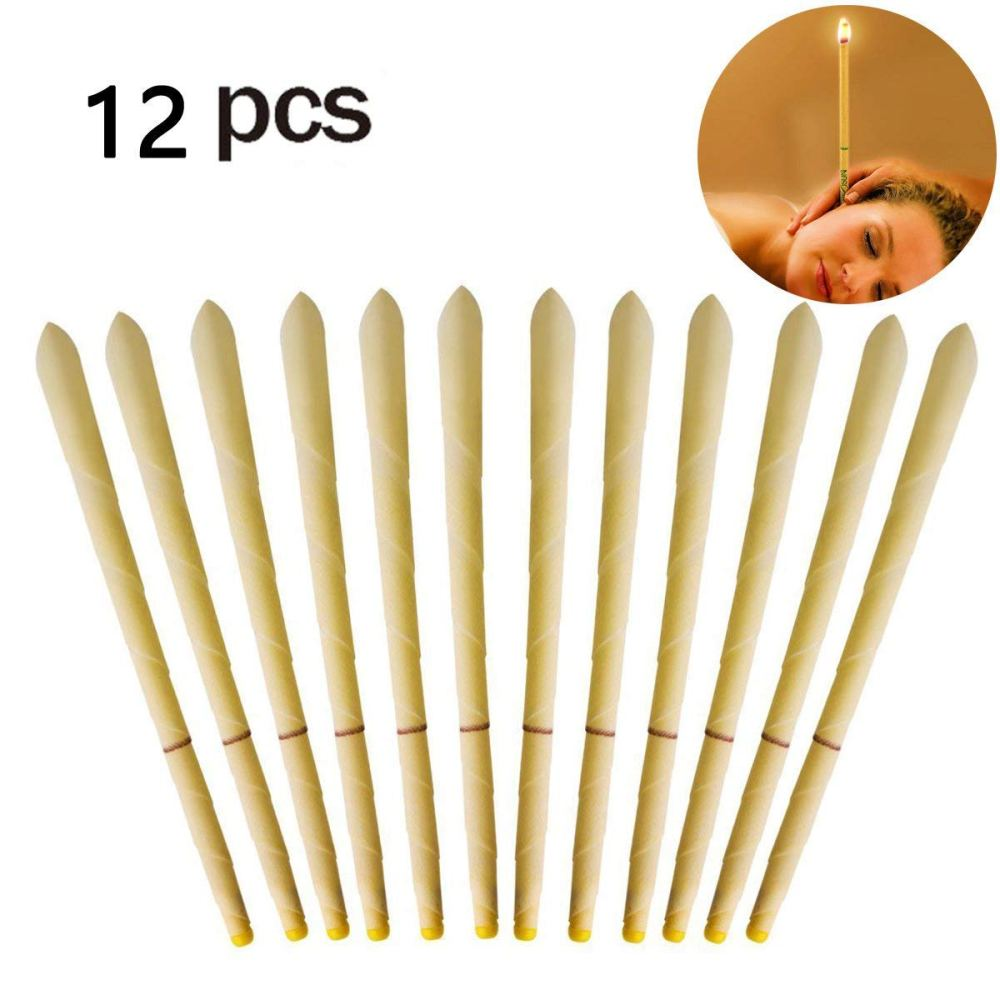 medium resolution of 12pcs beeswax candling cones ear wax candle removal kit