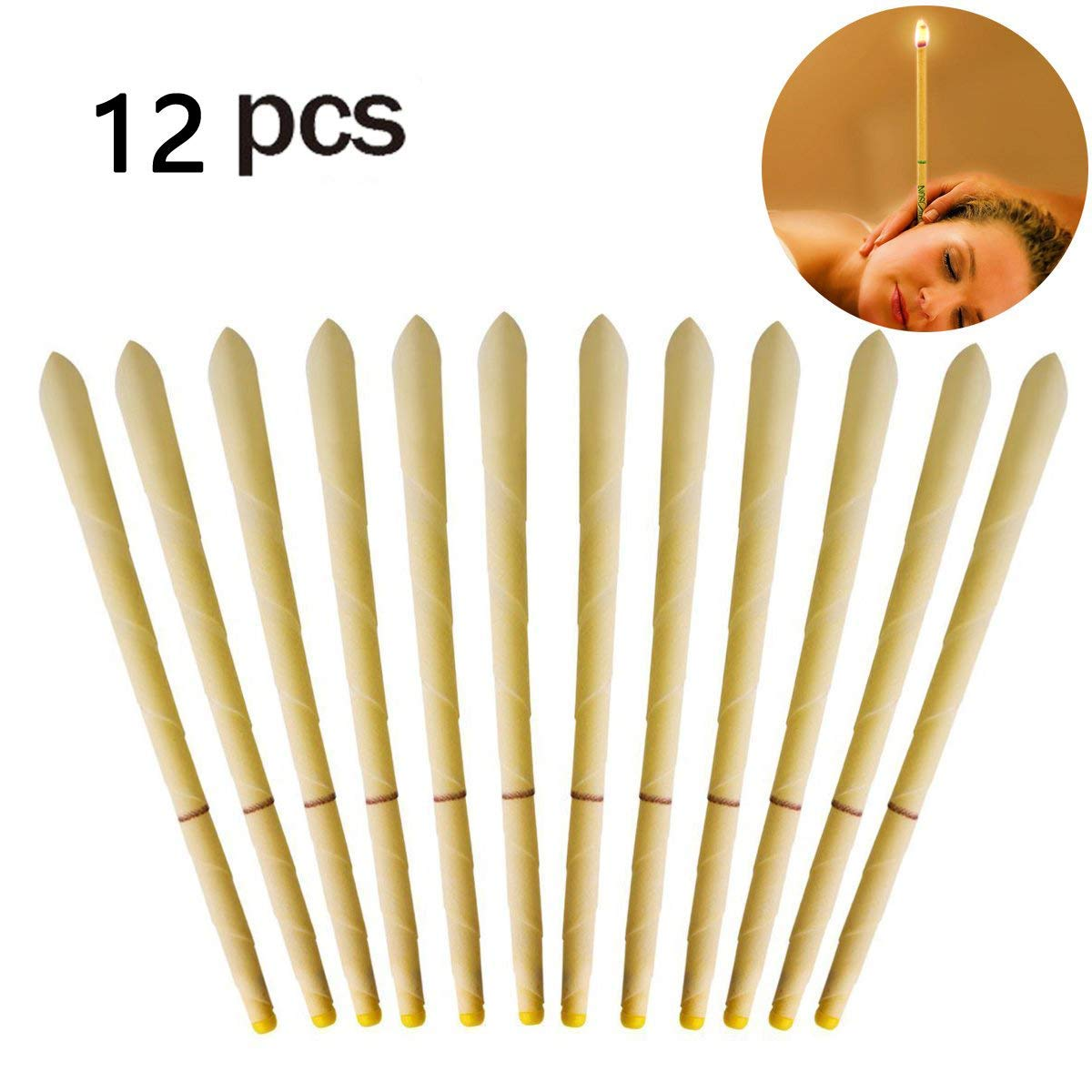 hight resolution of 12pcs beeswax candling cones ear wax candle removal kit