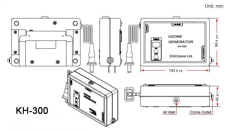 Ac110v 200mg Portable Quartz Tube Ozone Generator Room Air