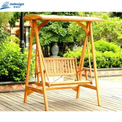 Hanging Chair Wood Natuzzi Leather Two 3 Seats Outdoor Furniture Wooden Park Garden Swing