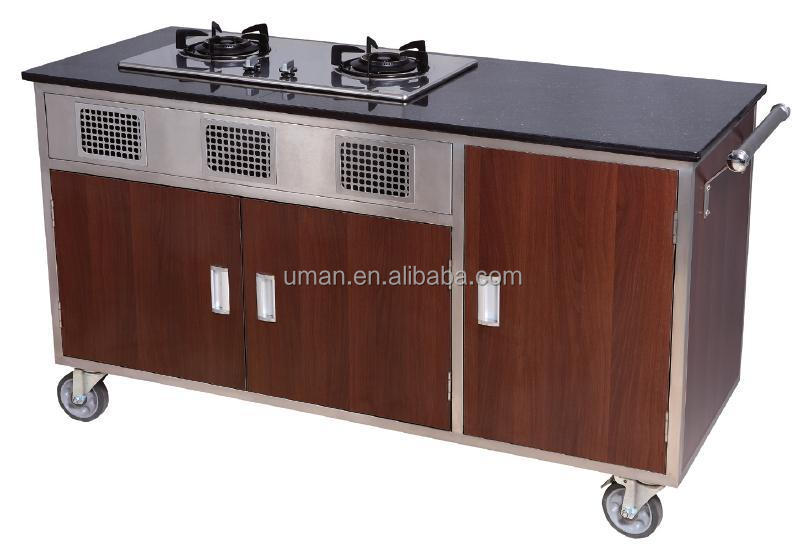 Hotel Mobile Kitchen Cartsflambe Cooking Cart  Buy