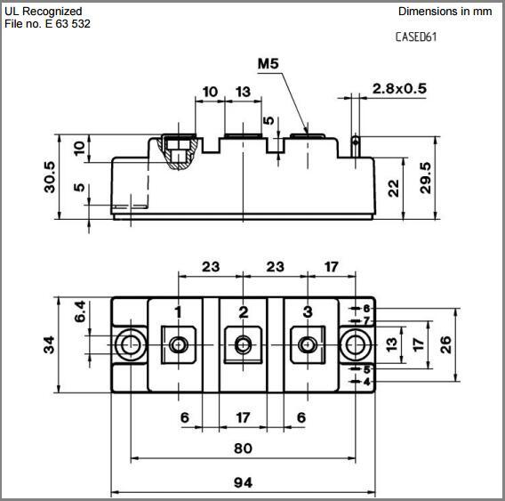 Igbt Power Module 1200v 100a Skm100gb128d Power Igbt