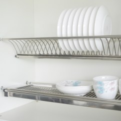 Kitchen Drying Rack Wilsonart Cabinets Dish 2 Tiers Wall Mounted Stainless Steel Hardware