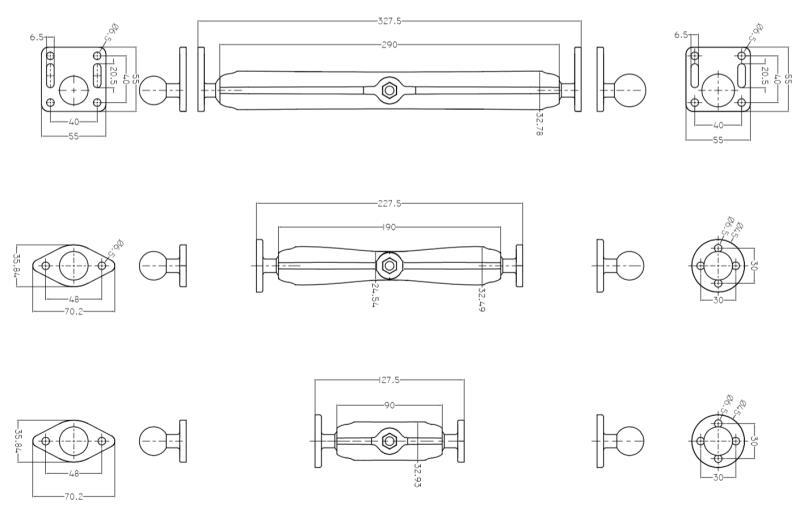 Ram Mount Cellphone Bracket New Design Product 9cm,19cm