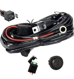 get quotations eyourlife wiring harness heavy duty wiring harness kit for led light bar 300w 12v 40a [ 1280 x 1280 Pixel ]