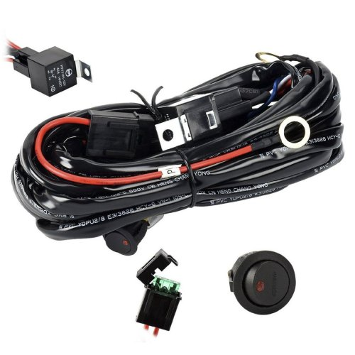 small resolution of get quotations eyourlife wiring harness heavy duty wiring harness kit for led light bar 300w 12v 40a